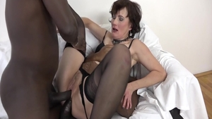 Big tits stepmom in sexy lingerie gonzo sex with toys