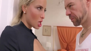 Hard nailining in company with hot babe Victoria Pure