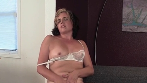 Solo very sensual and pretty blonde haired pussy fuck