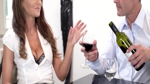 Raw hard pounding in the company of erotic brunette Tina Kay