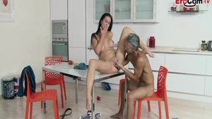 Reality pussy fucking with super hot german MILF