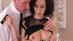 Stunning Stacy Bloom and charming Crystal Clear cowgirl sex