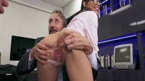 Ramming hard with chick Emily Willis Mick Blue