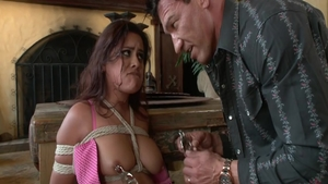 Very sexy babe Selma Sins gets a buzz out of bondage