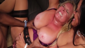 Alexis Golden together with Maxine X interracial pounding
