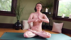 Very small tits Casey Calvert yoga