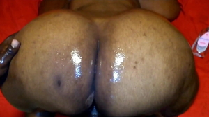 Big ass african cougar got her pussy pounded
