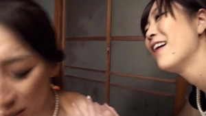 Japanese lesbo having sex