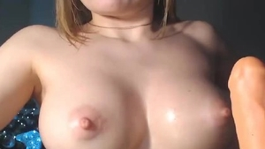 Solo large boobs female sex with toys on live cam