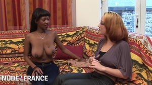 Large tits ebony brunette hard cumshot at casting