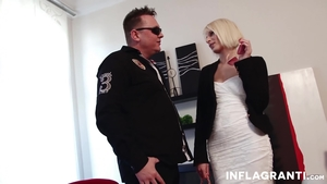 Rough sex in company with very cute blonde haired Paris Pink