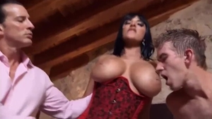 Young brunette really enjoys hard ramming HD