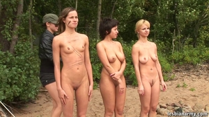 Large boobs MILF group sex outdoors