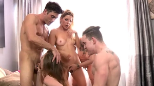 Hard pounding together with Anya Olsen and Ashley Fires