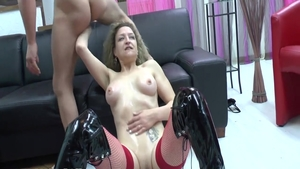 Passionate glamour french hotwife penetration