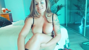 Whore has a thing for homemade fingering live on webcam in HD