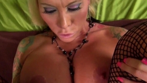 Nailed rough escorted by big tits blonde haired