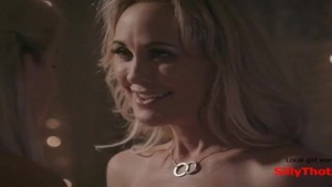'SillyThots.com - Two delicious blonde MILFs Bring Each Other To agonorgasmos'
