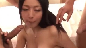 Small tits japanese MILF lusts hard ramming in HD