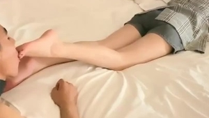 Chinese mistress foot fetish in HD