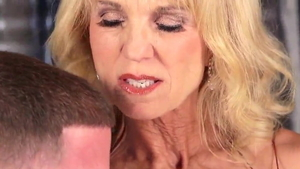 Amazing granny cumshot in HD