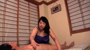 Fucking asian mature in sexy stockings