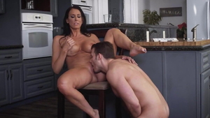 Female Reagan Foxx in company with Zoey Holloway cowgirl sex