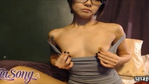 Real fucking accompanied by petite babe