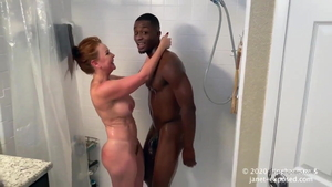 Nailing next to young MILF Janet Mason in shower
