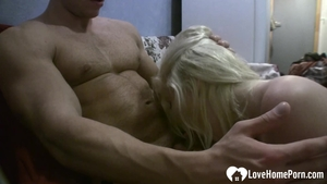 Hard slamming in the company of wet blonde babe