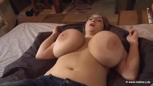 Solo sweet blonde titty fucking