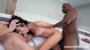 DP at casting next to hairy asian stepmom Marica Hase