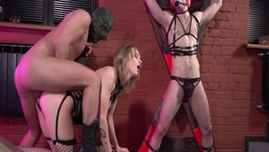 Mistress Loren Strawberry rushes BDSM in her lingerie