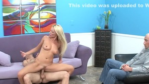 Blonde haired Diana Doll lusts hard slamming