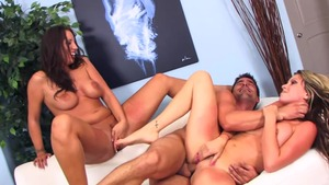 Group sex together with huge tits pornstar Courtney Cummz