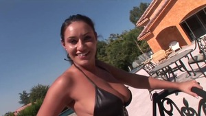 Pornstar Charley Chase being fucked by BBC