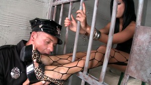 Madison Parker bends to get fucked in the jail