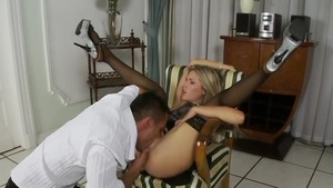 Blonde babe Cherry Jul rushes the best sex HD