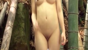 Fetish asian teasing in the forest