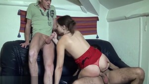 Nailing escorted by brunette