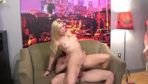 Shaved & bubble butt Ashley Fires group sex