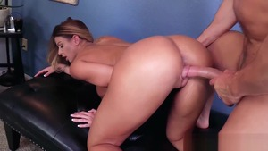 Huge boobs Brooklyn Chase and Laz Fyre raw receiving facial