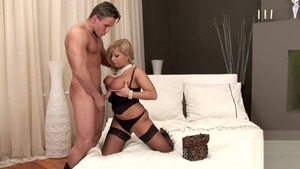 Large tits MILF Lucy Love goes in for rough nailing